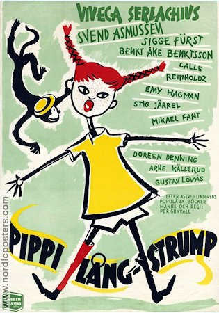 Pippi Longstocking 1949 Movie poster