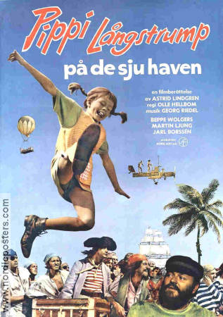 Pippi in the South Seas 1970 Inger Nilsson Astrid Lindgren Beppe Wolgers