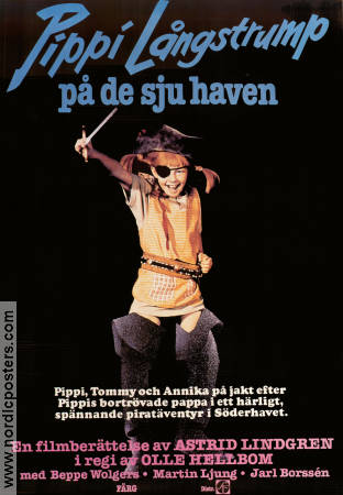 Pippi in the South Seas 1970 Movie poster Inger Nilsson Olle Hellbom