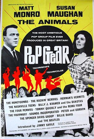 Pop Gear 1965 poster Matt Monro
