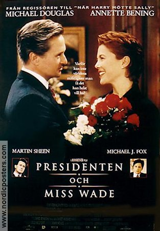 The American President 1995 Movie poster Michael Douglas