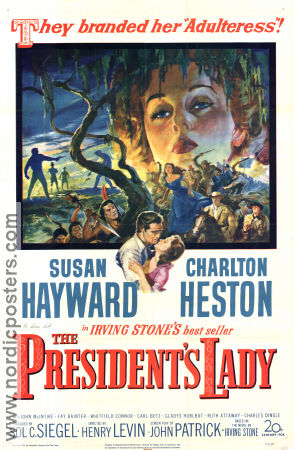 The President´s Lady 1953 poster Susan Hayward Henry Levin