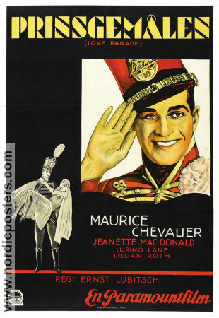 The Love Parade 1930 poster Maurice Chevalier Ernst Lubitsch