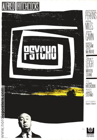 Psycho 1960 poster Anthony Perkins Alfred Hitchcock