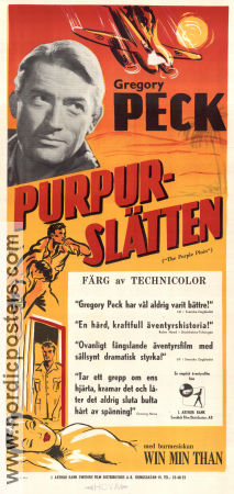 The Purple Plain 1954 poster Gregory Peck Robert Parrish