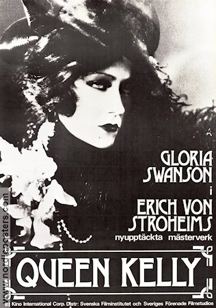 Queen Kelly 1929 Movie poster Gloria Swanson Erich von Stroheim