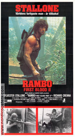 Rambo First Blood 2 1985 Movie poster Sylvester Stallone
