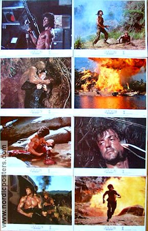 Rambo First Blood 2 1985 Lobby card set Sylvester Stallone