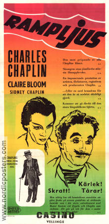 Limelight 1952 poster Claire Bloom Charlie Chaplin