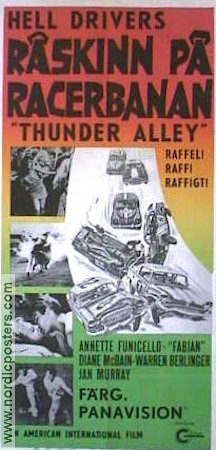 Thunder Alley 1967 poster Annette Funicello