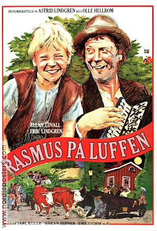 Rasmus på luffen 1981 Movie poster Olle Hellbom