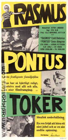 Rasmus Pontus och Toker 1956 Movie poster Stig Olin