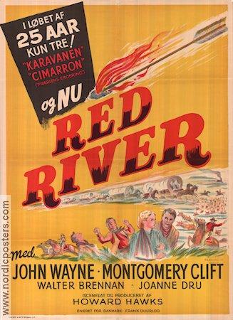 Red River Movie Poster 1948 Denmark Original Nordicposters