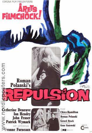 Repulsion 1965 Movie poster Catherine Deneuve Roman Polanski