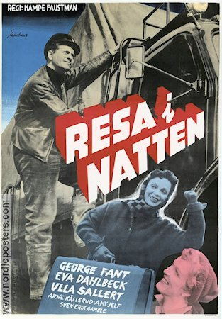 Resa i natten 1954 Movie poster George Fant