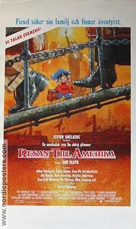 An American Tail 1992 poster Don Bluth