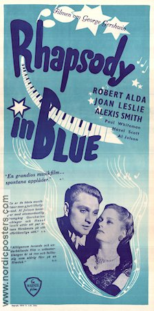 Rhapsody in Blue 1945 poster Robert Alda