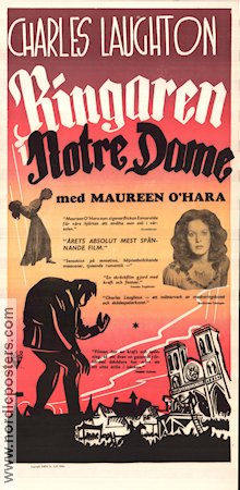 The Hunchback of Notre Dame 1940 poster Charles Laughton