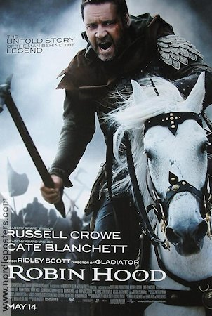 Robin Hood 2009 Movie poster Russell Crowe Ridley Scott