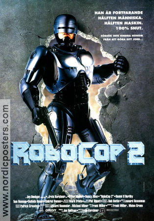 Robocop 2 1990 Movie poster Peter Weller