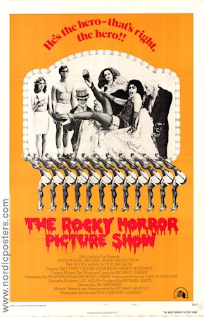 Rocky Horror Picture Show 1975 Movie poster Tim Curry