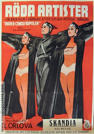 Tsirk 1936 Movie poster Lyubov Orlova