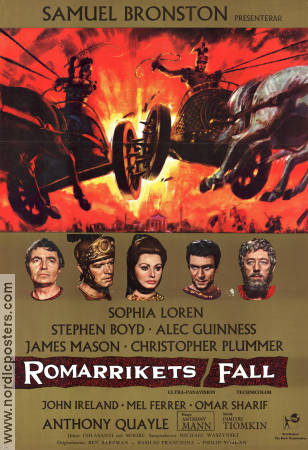 The Fall of the Roman Empire 1964 poster Sophia Loren Anthony Mann