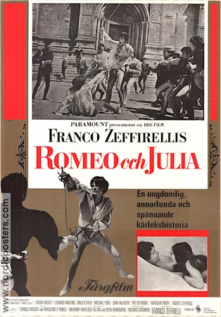 Romeo and Juliet 1969 Franco Zeffirelli Olivia Hussey William Shakespeare