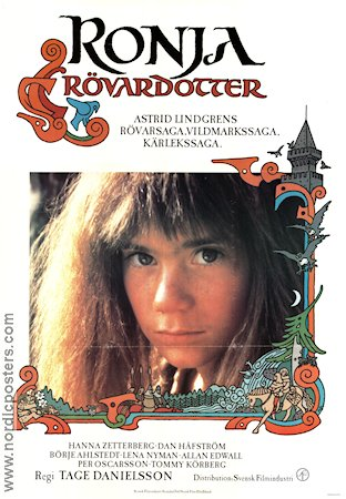 Ronja Robbersdaughter 1984 poster Tage Danielsson