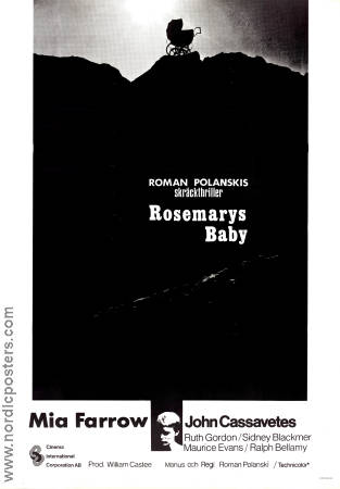Rosemary's Baby 1971 Movie poster Mia Farrow Roman Polanski
