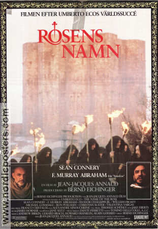 The Name of the Rose 1986 poster Sean Connery Jean-Jacques Annaud