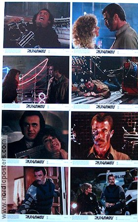 Runaway 1984 lobby card set Tom Selleck