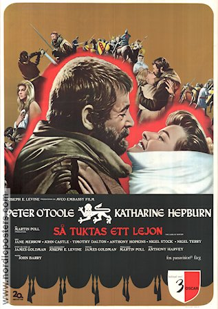 The Lion in Winter 1970 Movie poster Peter O'Toole