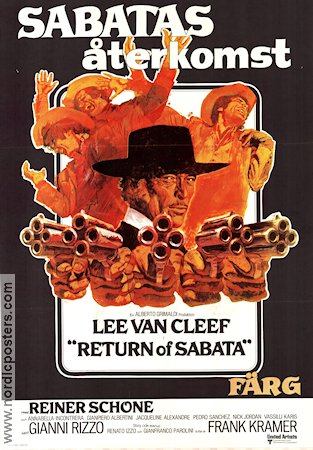 Return of Sabata 1972 poster Lee Van Cleef