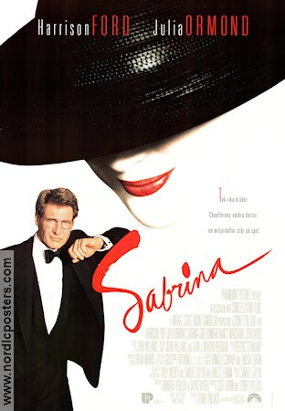 Sabrina 1995 Movie poster Harrison Ford Sydney Pollack
