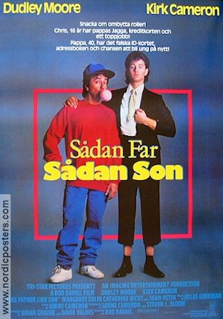 Like Father Like Son 1987 poster Dudley Moore