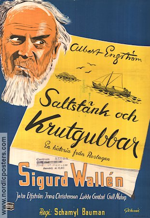 Saltst�nk och krutgubbar 1946 Movie poster Sigurd Wall�n