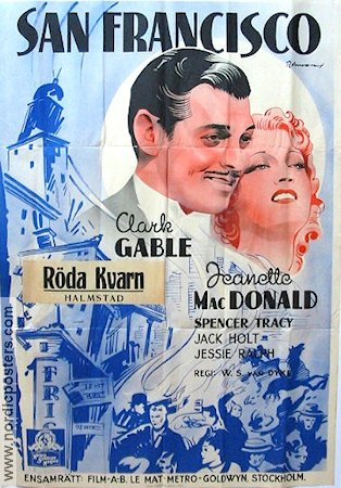 San Francisco 1936 Movie poster Clark Gable D W Griffith
