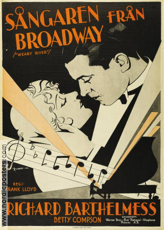Weary River 1929 poster Richard Barthelmess Frank Lloyd