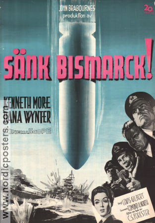 Sink the Bismarck! 1960 poster Kenneth More Lewis Gilbert