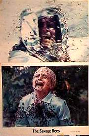 The Savage Bees 1976 lobby card set Ben Johnson