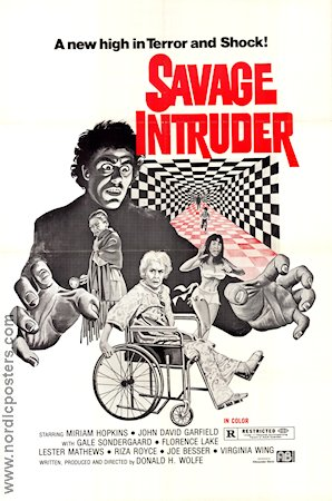 Savage Intruder 1970 Movie poster Miriam Hopkins