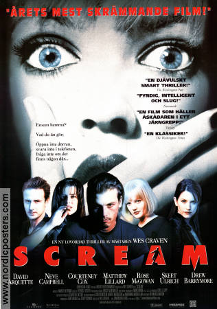 Scream 1996 Wes Craven David Arquette Courteney Cox Drew Barrymore