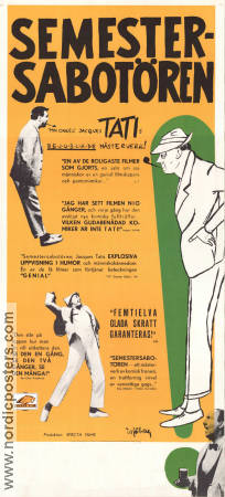 Les Vacances de Monsieur Hulot 1954 Movie poster Nathalie Pascaud Jacques Tati
