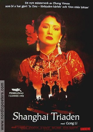 Shanghai Triaden 1995 Movie poster Gong Li