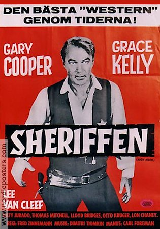 High Noon 1952 Movie poster Gary Cooper Fred Zinnemann