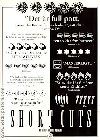 Short Cuts 1993 Movie poster Andie MacDowell Robert Altman