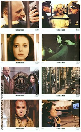 The Silence of the Lambs 1990 lobby card set Anthony Hopkins Jonathan Demme