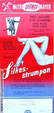 Silk Stockings 1957 poster Fred Astaire