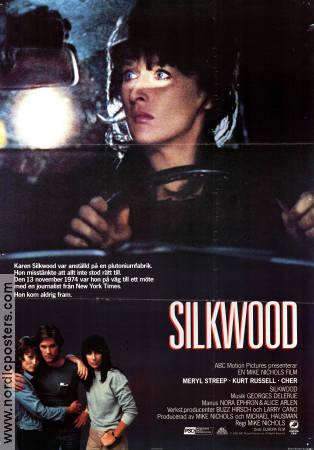 Silkwood Meryl Streep vintage movie poster print